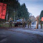 Checkpoint mit Spähwagen Fennek © Bundesheer