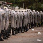 Geübt wurde auch das Verhalten gegenüber gewaltbereiten Demonstranten © Bundesheer