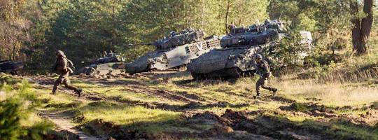 Österreichische Panzergrenadiere am Truppenübungsplatz Bergen © Bundesheer