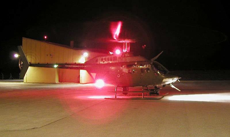 Ein KIOWA in Konfiguration EULE zur Grenzraumüberwachung © Bundesheer