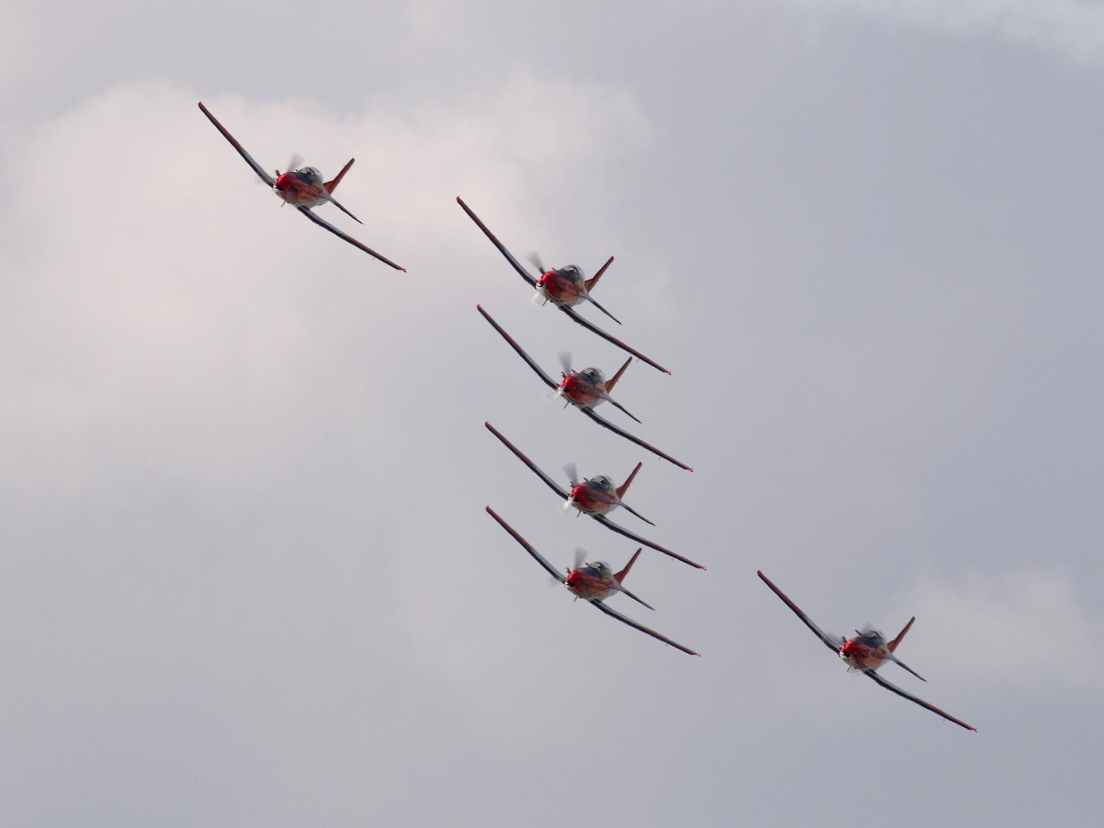 PC-7 Team der Schweizer Luftwaffe auf Pilatus PC-7 © Doppeladler.com