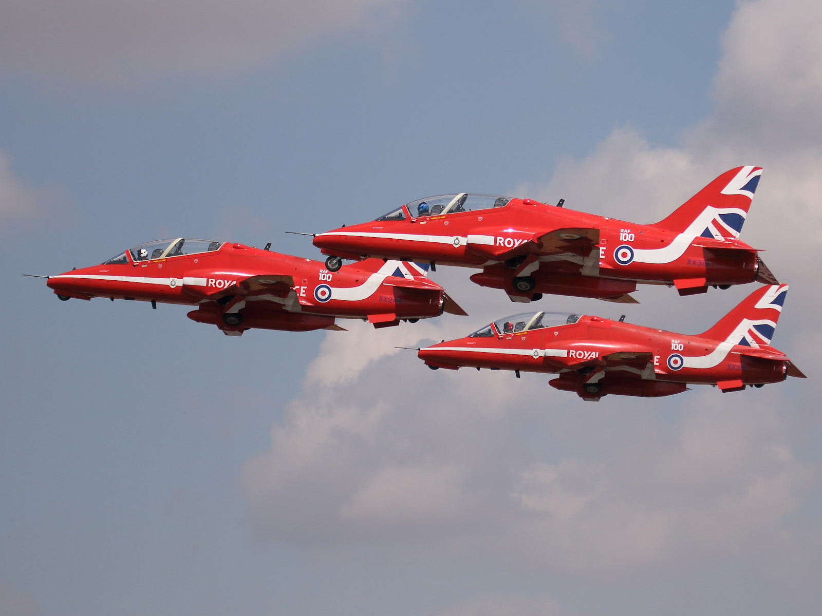 Red Arrows, das Kunstflugteam der RAF, auf BAE Systems Hawk T1 © Doppeladler.com