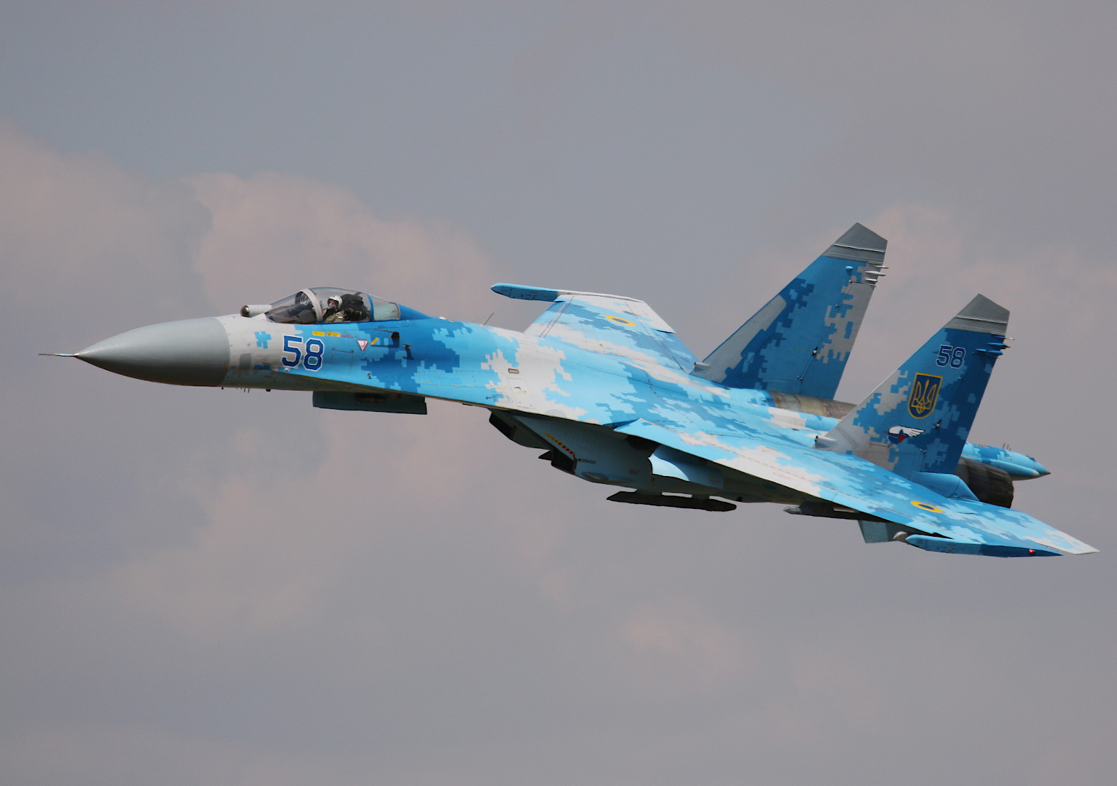 Sukhoi Su-27P Flanker 58 831 der Guards Tactical Aviation Brigade (831 BrTA) © Doppeladler.com