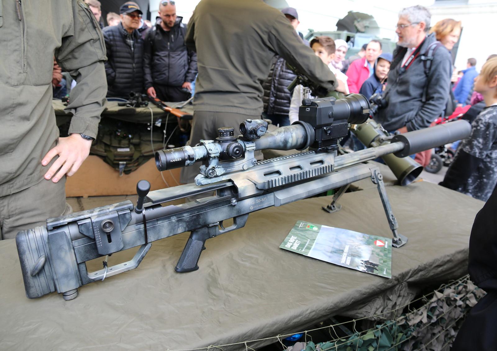 12,7 mm Schweres Scharfschützengewehr Steyr HS .50 M1 mit Mündungsfeuerdämpfer © Doppeladler.com