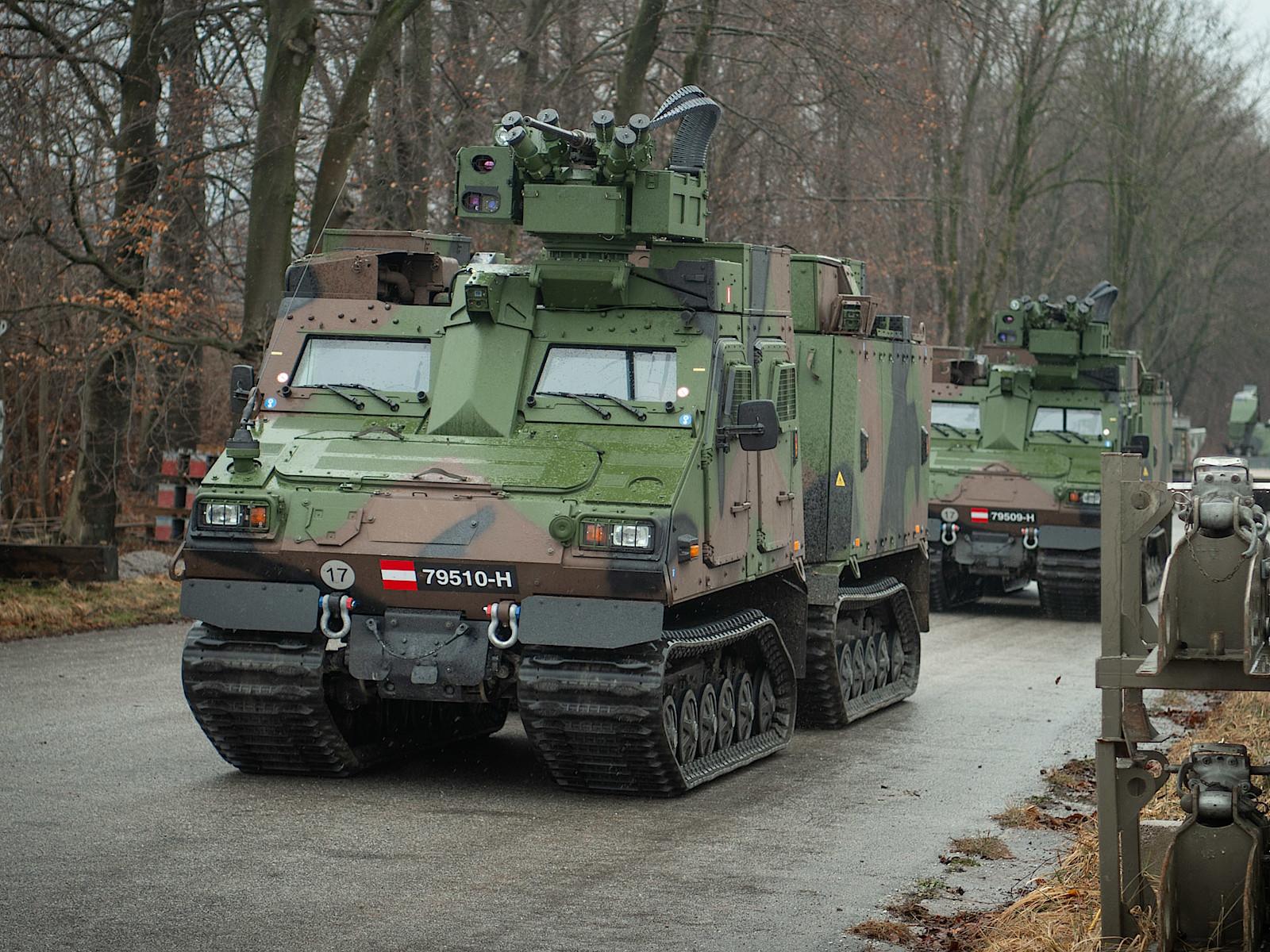 Auch die Hägglunds sind mit der WS4 Panther Waffenstation ausgestattet © Bundesheer