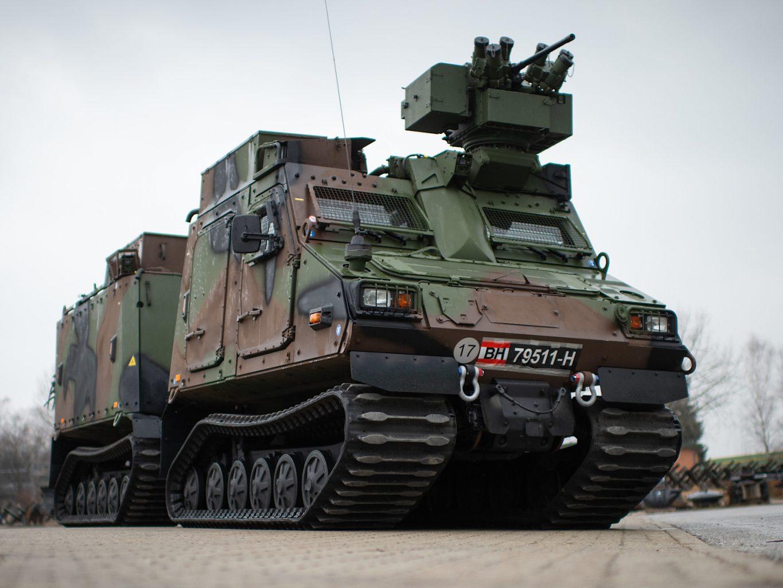 Das geschützte Universalgeländefahrzeug BvS10 AUT Hägglunds entspricht dem Typ BvS10 Mk IIB Viking von BAE Systems Hägglunds © Bundesheer