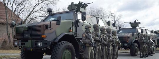 Übergabe DINGO 2A3 an das Jägerbataillon 33 © Bundesheer