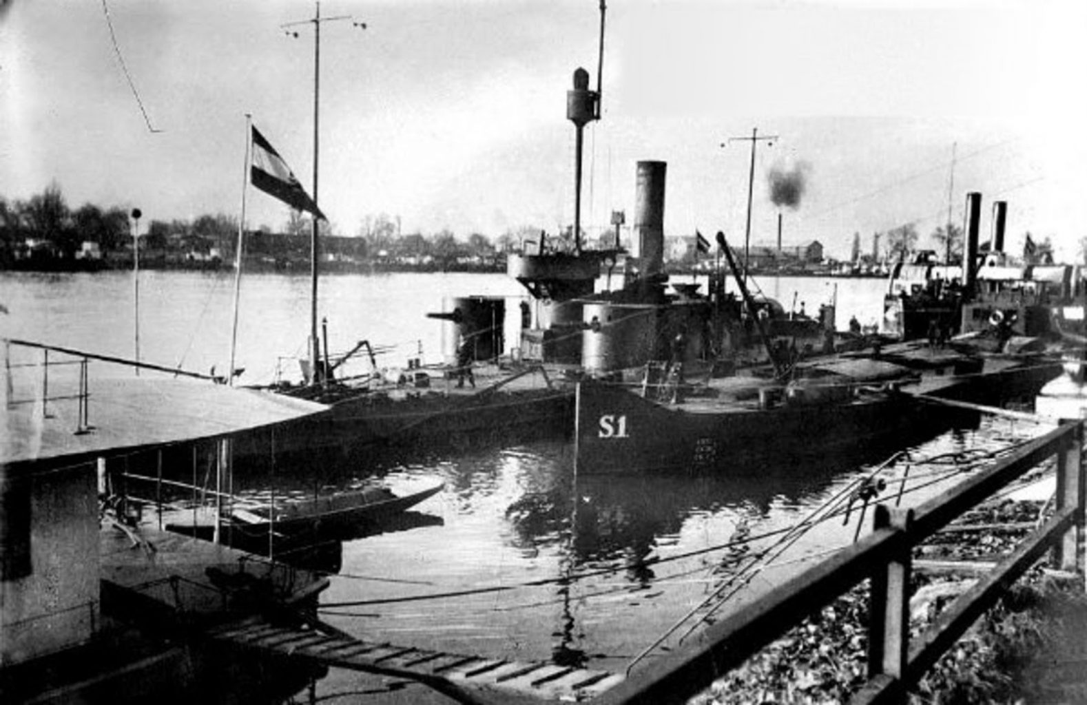 SMS BODROG an der Save 1914 © Archiv