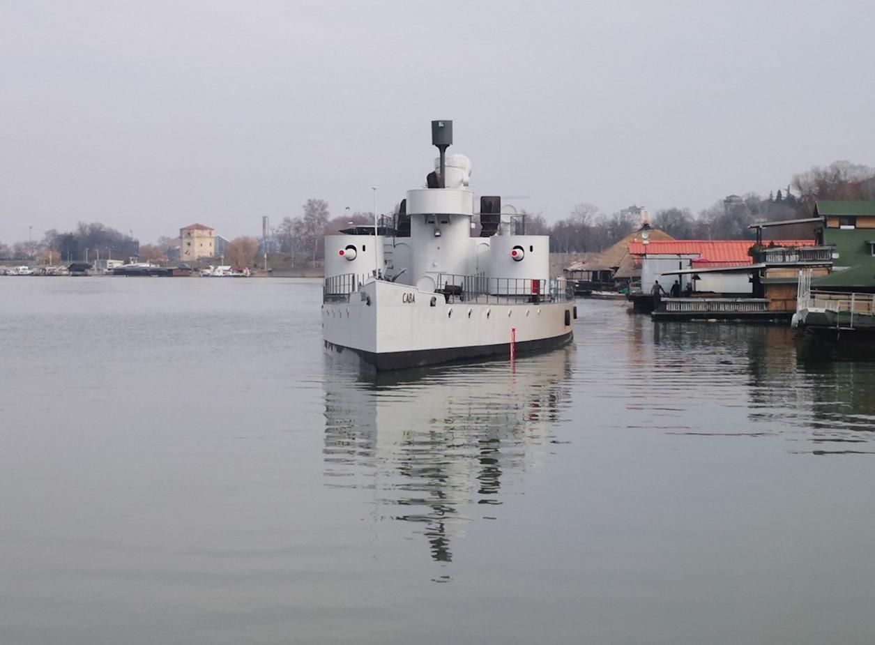 Das Museumsschiff BODROG / SAVA kommt in Belgrad an © Sammlung B. Prodanic