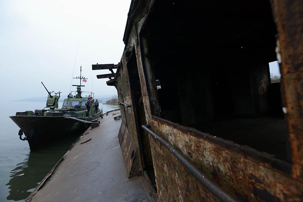 Die Bergung durch die serbische Donauflotte © Serbische Armee