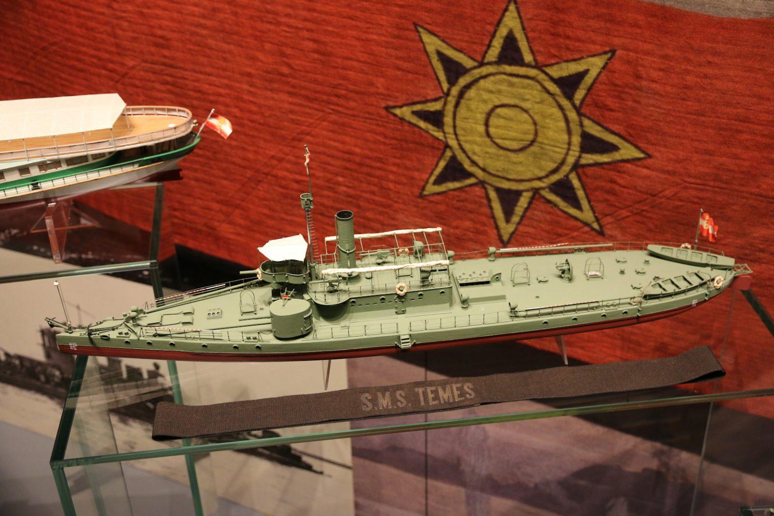 Modell des Schwesternschiffs TEMES Zustand 1904 im HGM © Doppeladler.com