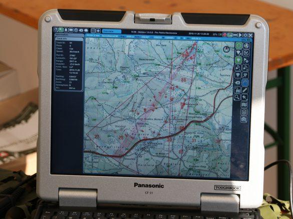 Laptop des Bodenüberwachungsradars PGSR-3i Beagle © Doppeladler.com