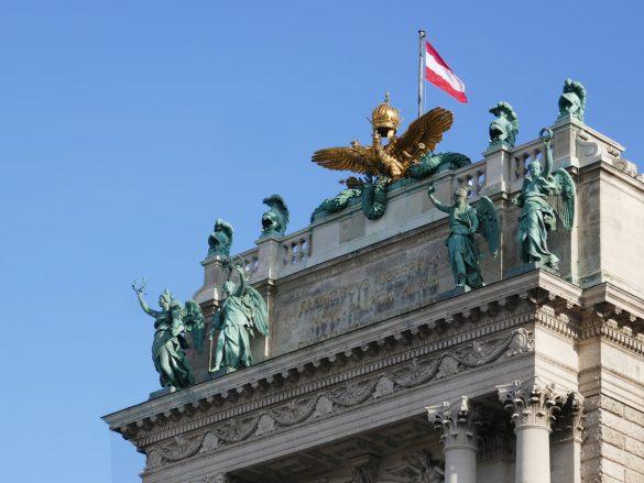 Doppeladler auf der Neuen Burg der Wiener Hofburg © Doppeladler.com