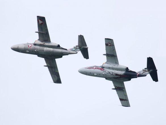 Saab 105 Oe Rotte aus 'RE-25' und 'GD-14' © Doppeladler.com