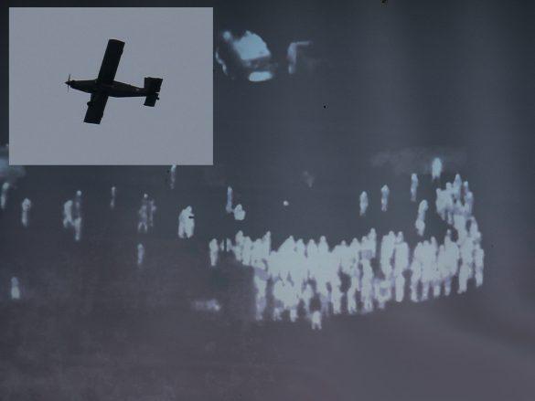 Steinbach wird aus großer Entfernung von einer Pilatus PC-6 per IR Sensor aufgeklärt © Doppeladler.com