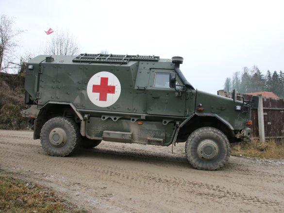 Ein Dingo 2 Notfallfahrzeug wurde angefordert © Doppeladler.com