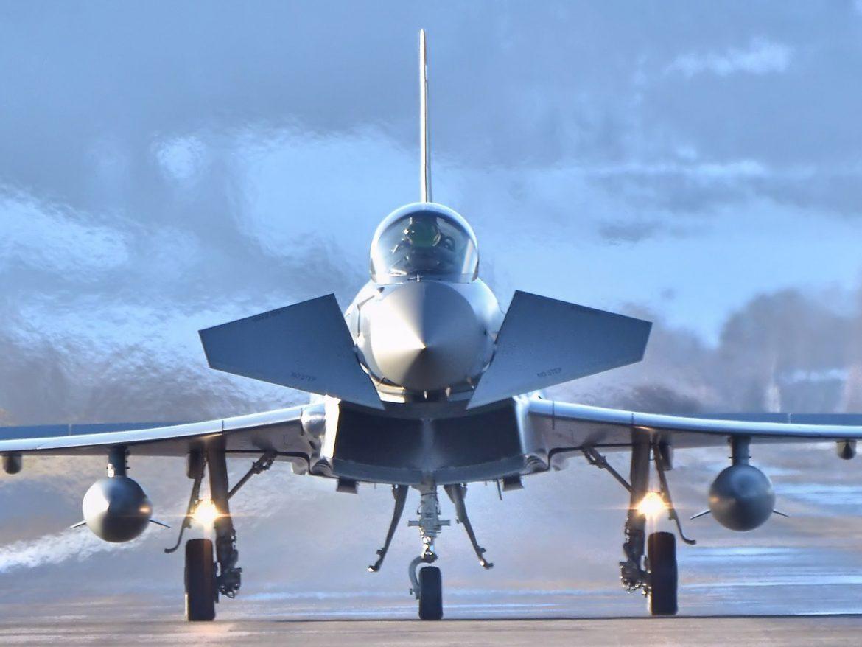 Eurofighter Typhoon nach dem Einsatz in Zeltweg © Alex S