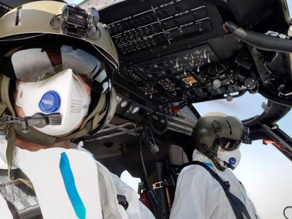 Die gesamte Besatzung trug Schutzausrüstung © Bundesheer