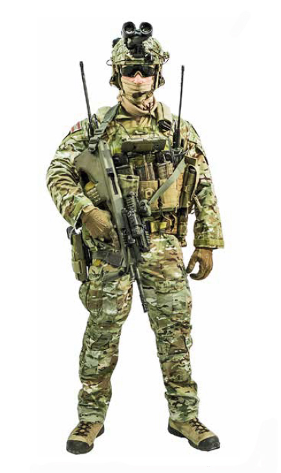 Spezialist für Feuerunterstützung (SOTAC – Special Operations Terminal Attack Controller) des Jagdkommandos © Bundesheer