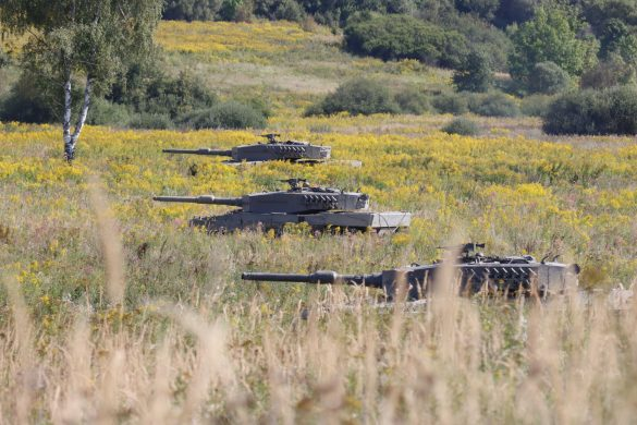 Kampfpanzer Leopard 2A4 gehen in Stellung © Doppeladler.com