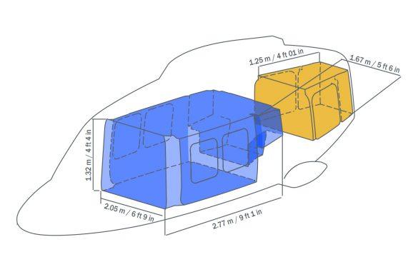 Der größte Innenraum seiner Klasse und ein Gepäckabteil © Leonardo