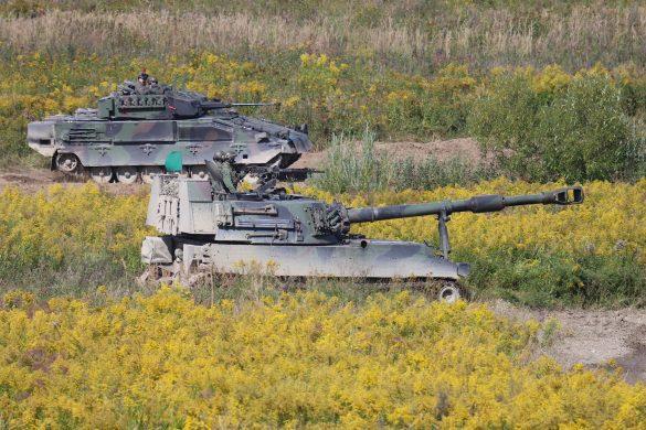 Panzerhaubitze und Schützenpanzer © Doppeladler.com