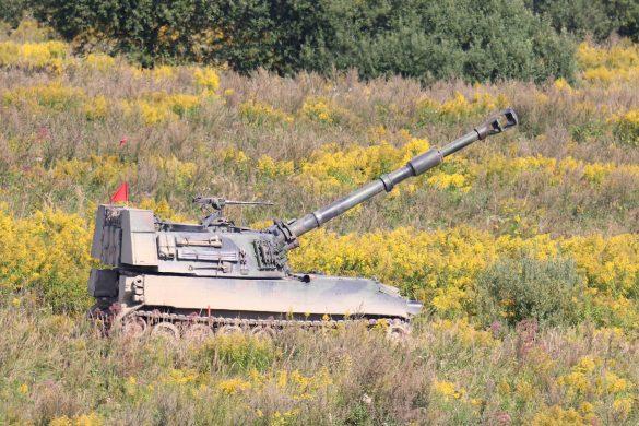Panzerhaubitze M-109 A5Ö in Feuerstellung © Doppeladler.com
