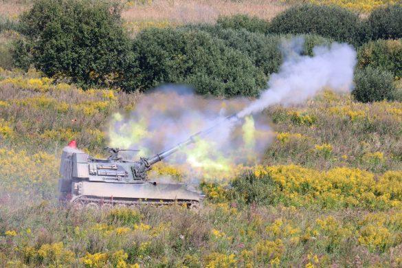 Panzerhaubitze M-109 A5Ö im scharfen Schuss © Doppeladler.com