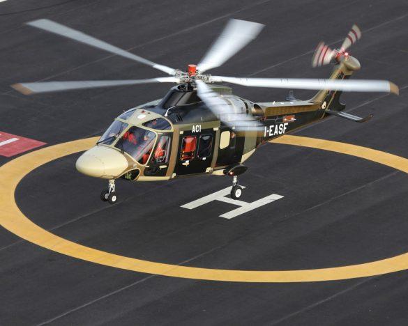 Prototyp des AW169 beim Erstflug © Leonardo