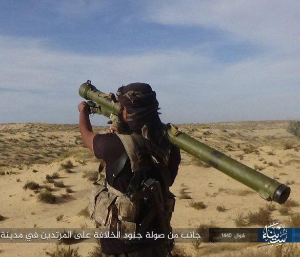 IS Anhänger mit SA-7 in Ägypten © Twitter