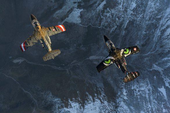 Etwas für das Auge - SAAB 105 OE BJ-40 und GD-14 © Bundesheer