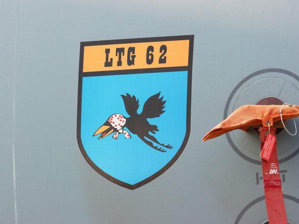 Verbandsabzeichen des Lufttransportgeschwaders 62 (LTG 62) auf der A400M aus Wunstorf © Doppeladler.com