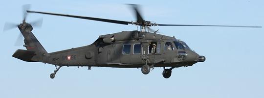 Sikorsky S-70A-42 Black Hawk über dem Fliegerhorst Brumowski © Doppeladler.com