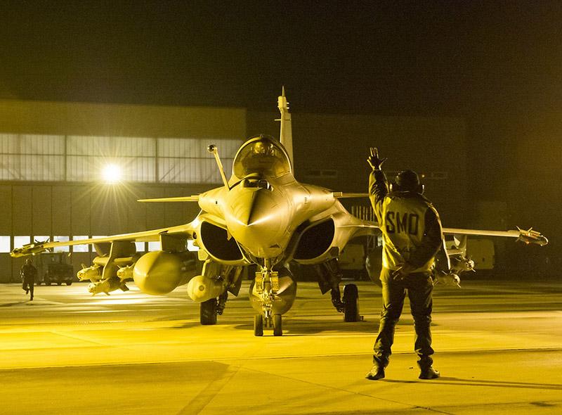 Dassault Rafale im Einsatz gegen die Rebellen © French Air Force
