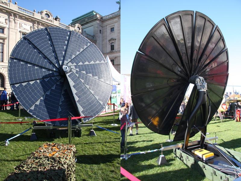 Tragbares Solarkraftwerk REMULES - Renewable Mobile Ultralight Energy System © Doppeladler.com