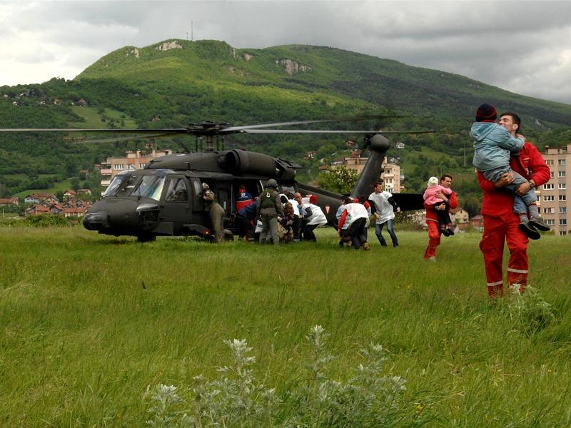 Black Hawk im Evakuierungseinsatz © EUFOR Althea