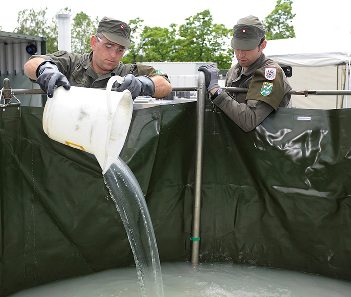 Die Trinkwasserspezialisten nehmen ihre Arbeit auf © Bundesheer