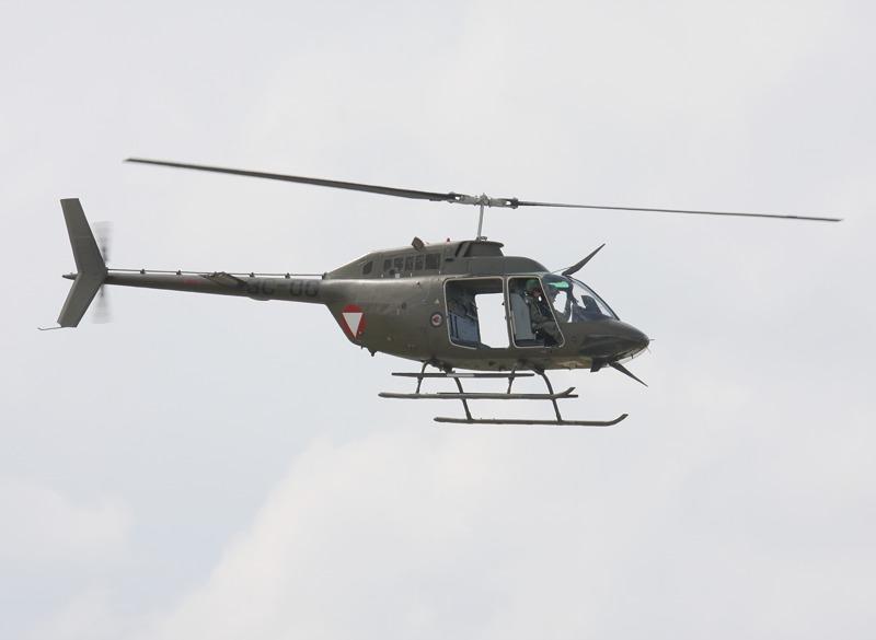 Bell OH-58B Kiowa 3C-OG bei der Vorführung zum 50. Jahrestag des Jagdkommandos © Doppeladler.com