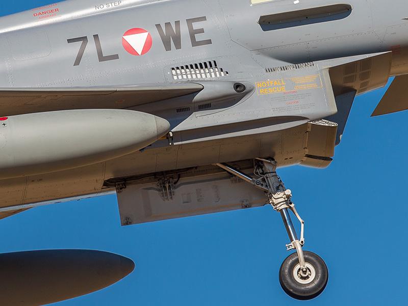 Eurofighter Typhoon 7L-WE - beachte die fehlende Abdeckung vor der Mündung der Bordkanone © Onnis Gian Luca