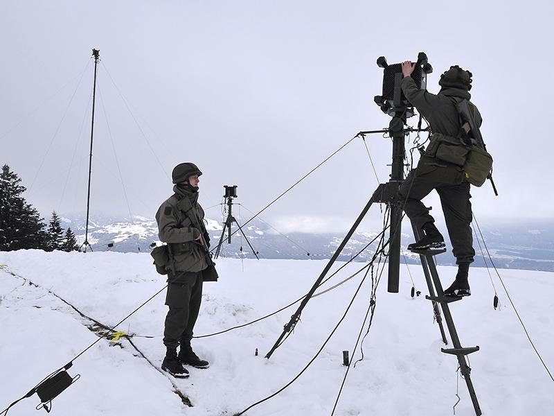 Moderne Richt- und Flugfunkantennen sorgen für gute Verbindungen im Hochgebirge © Bundesheer