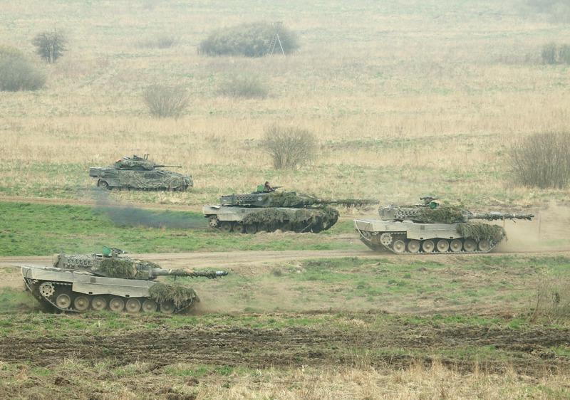 Die EUFOR setzt zum Gegenstoß an. Alle drei abgebildeten Typen erreichen 70 km/h und können aus der Bewegung zielgenau feuern © Doppeladler.com
