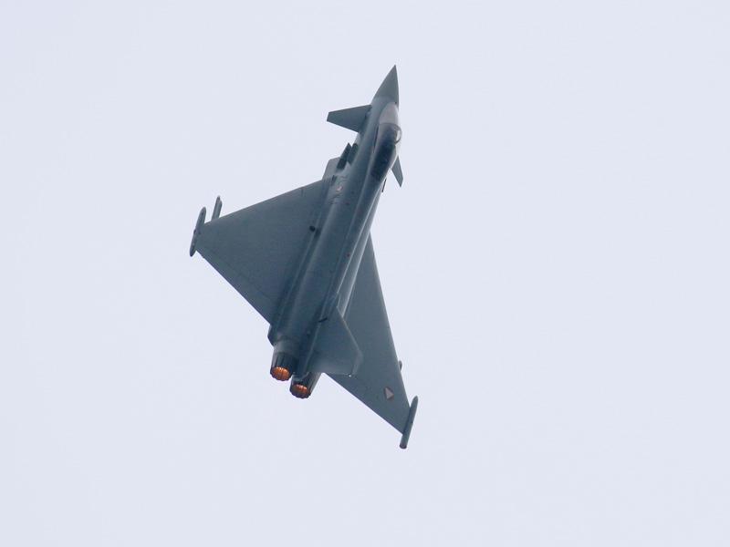 Eurofighter Typhoon zündet Nachbrenner © Doppeladler.com