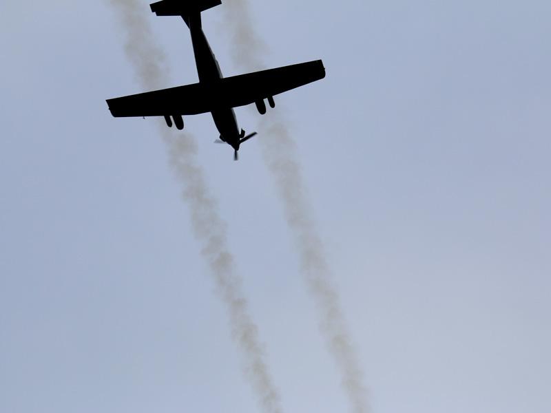 Pilatus PC-7 feuert 70 mm Raketen © Doppeladler.com
