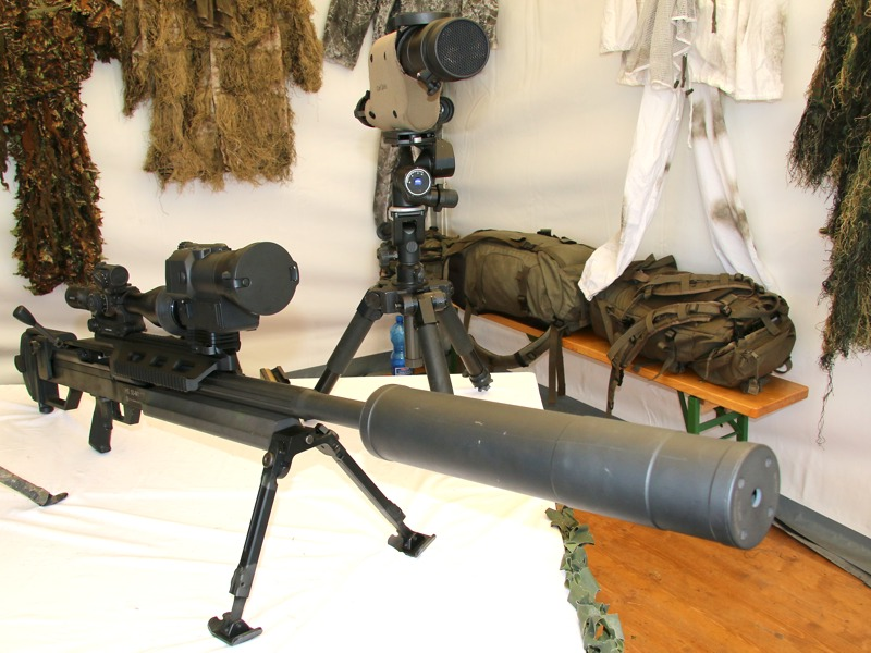 12,7 mm Scharfschützengewehr HS .50 M1 mit Nachtzielvisier © Doppeladler.com