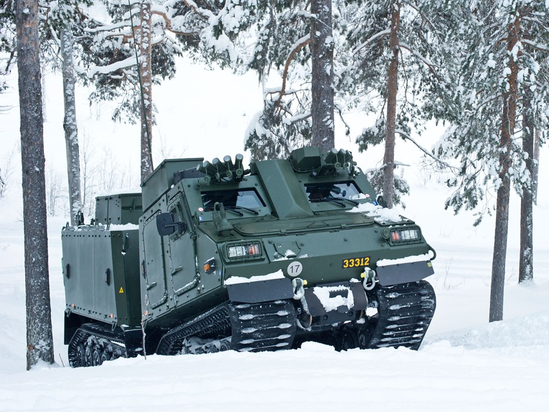 Die österreichischen Hägglunds werden dem schwedischen Bv410 entsprechen © Schwedische Streitkräfte