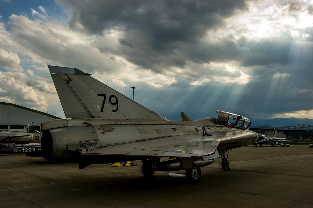 MD2 - Saab Draken in der Dämmerung © MADDOG