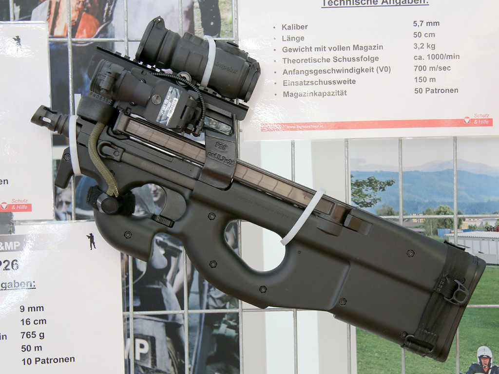 5,7 mm Maschinenpistole P90 Tactical von FN Herstal © Doppeladler.com