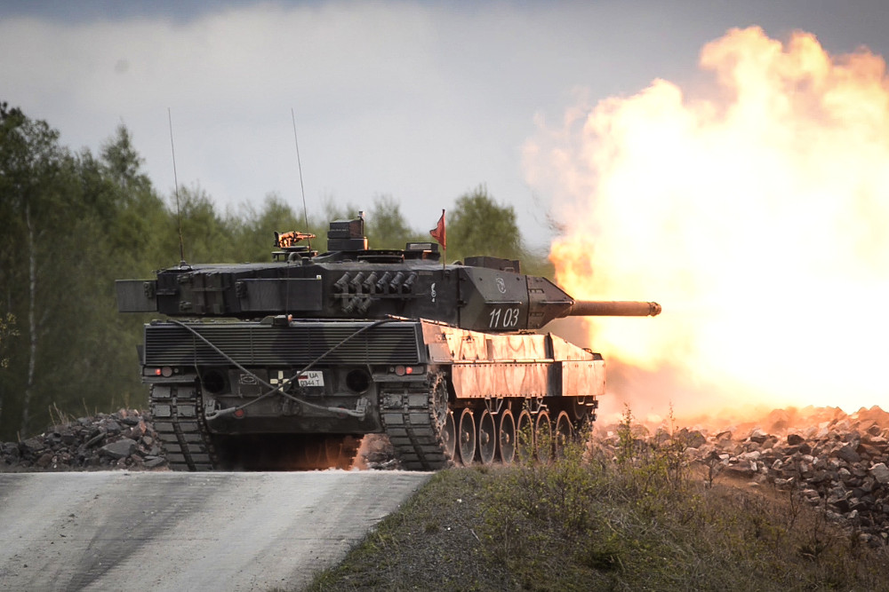 Polnischer Leopard 2A5 auf der Schießbahn © US Army