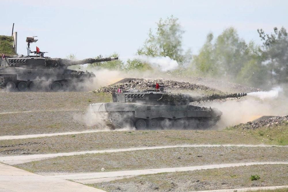 Welser Leoparden an der Schießbahn © Bundesheer