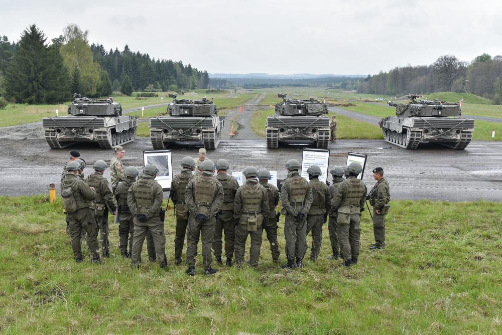 Team Österreich vor dem Defensiv-Schießen © US Army